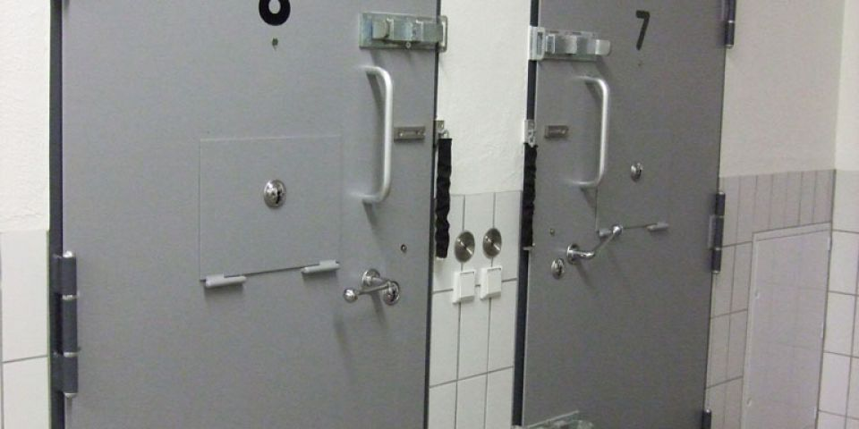 Cell doors for police station: